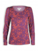 Longsleeve von Madness in Flower Print chilli/prune