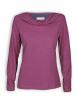 Shirt mit Wasserfallkragen von Madness in violet quarz