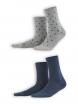 Socken Bettina (2-er Pack) von Living Crafts in night blue/dots