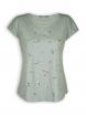 T-Shirt von GreenBomb in olive mit Print Feather