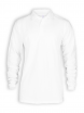 Langarm Polo Shirt von Neutral in white