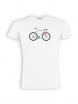 T-Shirt von GreenBomb in white mit Print Bike