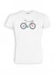 T-Shirt von GreenBomb in white mit Print Bike