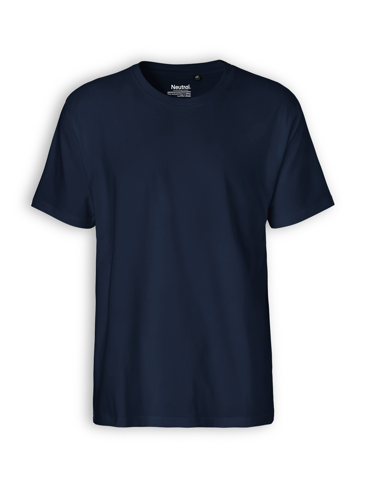 Neutral classic T-shirt in navy. Zoom