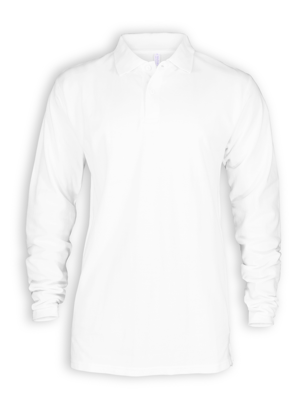 Neutral Longsleeve Polo Shirt In White Polos T Shirts Zoom